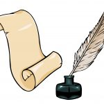 quill parchment