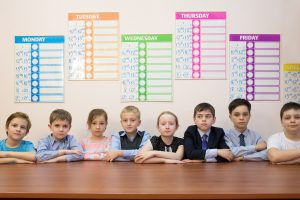 picture of school kids and calendars